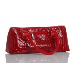 Red Crocodile Designer Bag for 1 Bottle  Insulated