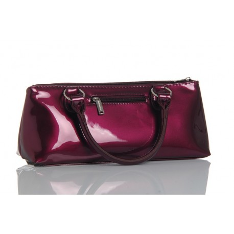 Sac HAUTE COUTURE isotherme 1 blle Prune laque   tire-bouc