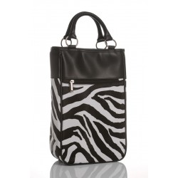 Ludi-Vin Zebra Designer Bag - 2 Bottles
