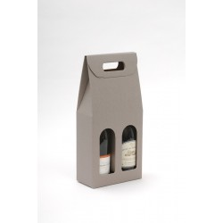 Valisette taupe 2 bouteilles