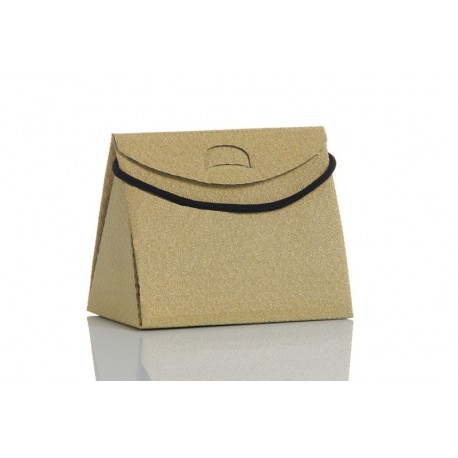 Gold Glitter Triangle Bag Insulated  small model