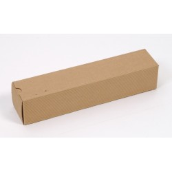 Corrugated brown  Gift Box for 1 bottle of wine