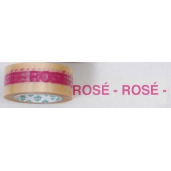 Rouleau adhesif PVC 100 ml transparent ROSE