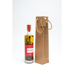 Kraft Paper Bag for 1 2 bottle without window  cord handle