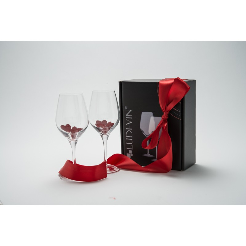 gift box containing 2 35cl exquisit wine glasses vinolem. Black Bedroom Furniture Sets. Home Design Ideas