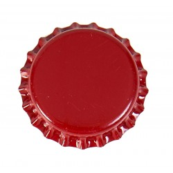 Capsule rouge couronne metal   liner en PVC transparent