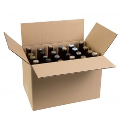 Carton 24 Bieres Long Neck 33cl V V C Ecru Neutre