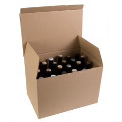 Carton 24 Bieres Long Neck 33 cl EB Ecru fd auto Neutre