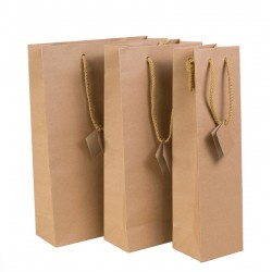 Dune Kraft Paper Bag 1 Bottle without window  190g thickness