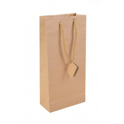 Dune Kraft Paper Bag 2 Bottles without window  190g thickness
