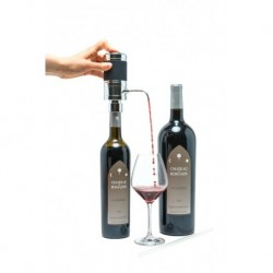 Electric Wine Aerator Black  with magnum straw