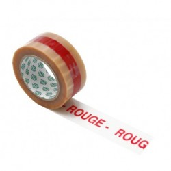 Rouleau adhesif PVC 100 ml transparent ROUGE