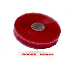 Rouleau adhesif PP 1000 ml transparent ROUGE