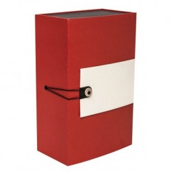 Rectangle Gift Box  red  beige textured paper