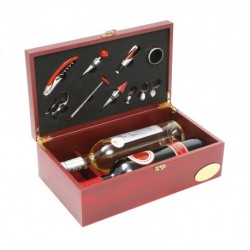 Wooden Gift Box for 2 Bottles with 10 accessories