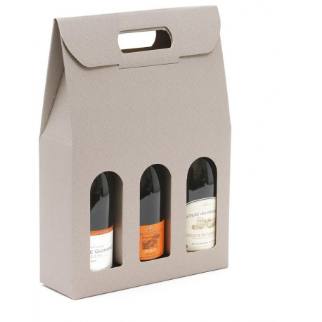 Valisette taupe 3 bouteilles
