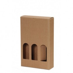 with window Corrugated Brown Gift Box