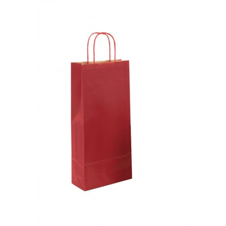 Sac kraft Verge rouge 2 blles
