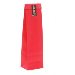 Red Kraft Paper Sleeve for 1 Bottle