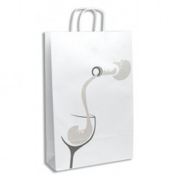 VINUM Printed Paper Bag for 3 Bottles 110g thickness