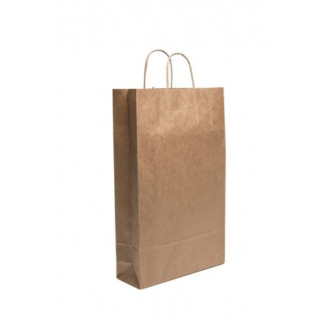 Cepage Natural Kraft Paper Bag for 3 bottles  110gr thickness