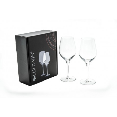 Gift Box Containing 2 35cl Exquisit Wine Glasses Vinolem