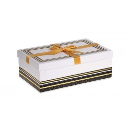 Coffret rectangle noir et or dimD330x210x120 mm MM